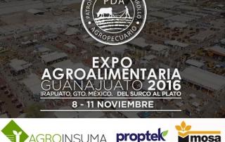 Expo Agro Guanajuato 2016 logos Agroinsuma Proptek Mosa Green