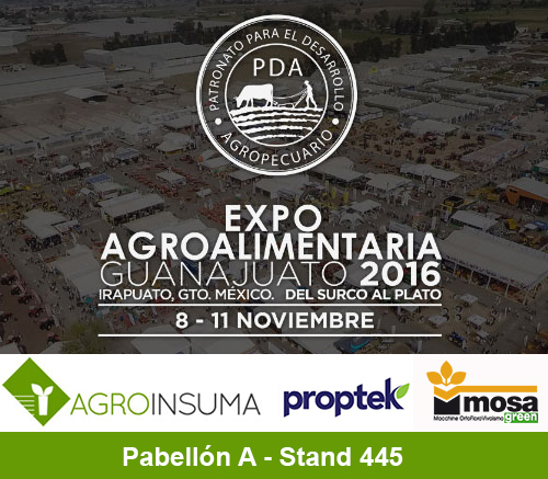 AGROINSUMA en Expo Agro Alimentaria 2016 – Visítenos en el Pab. A, Stand 445
